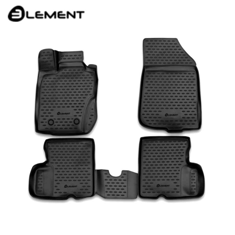For Nissan Terrano 4WD 2014-2016 3D floor mats into saloon 4 pcs/set Element CARNIS10057K for toyota premio allion 260 4wd 2012 2015 rhd 3d floor mats into saloon 4 pcs set element element3d48140210k
