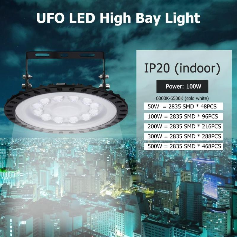 LED High Bay Light 50W 100W 200W 300W 500W High Power Reflector Floodlight for Factory/Warehouse/Works Machine Lamp image