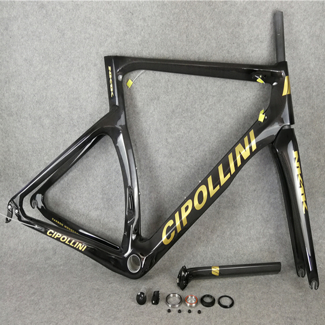 2f504eabc9e Gold logo Black T1000 3K 1K CARROWTER bicycle Cipollini NK1K carbon road  bike frame with BB68 BB30 Matte Glossy