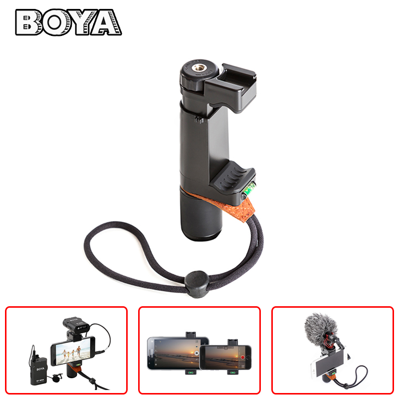 Smartphone Handheld Stabilizer Video Microphone Rig Grip Handle Support Tripod Mount Mobile Phone Videomaker Filmmaker Mic Stand