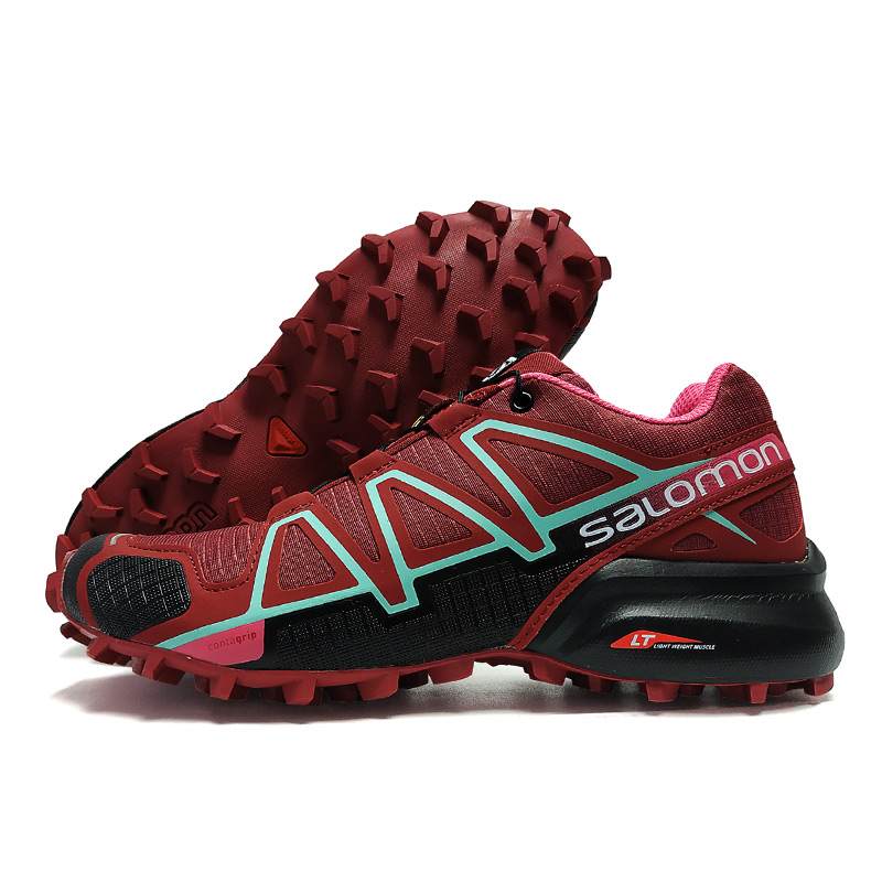Wholesale Salomon Speed Cross 4 CS Shoes Women Cross-country Red Running Shoes Female Sneakers Women Athletic Shoes Sport shoes