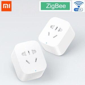 Image 2 - Oryginalny Xiaomi MI inteligentne gniazdo wtykowe Zigbee wersja WiFi bezprzewodowy zdalny adapter gniazda przełącznik czasowy zasilania włączanie i wyłączanie z telefonem