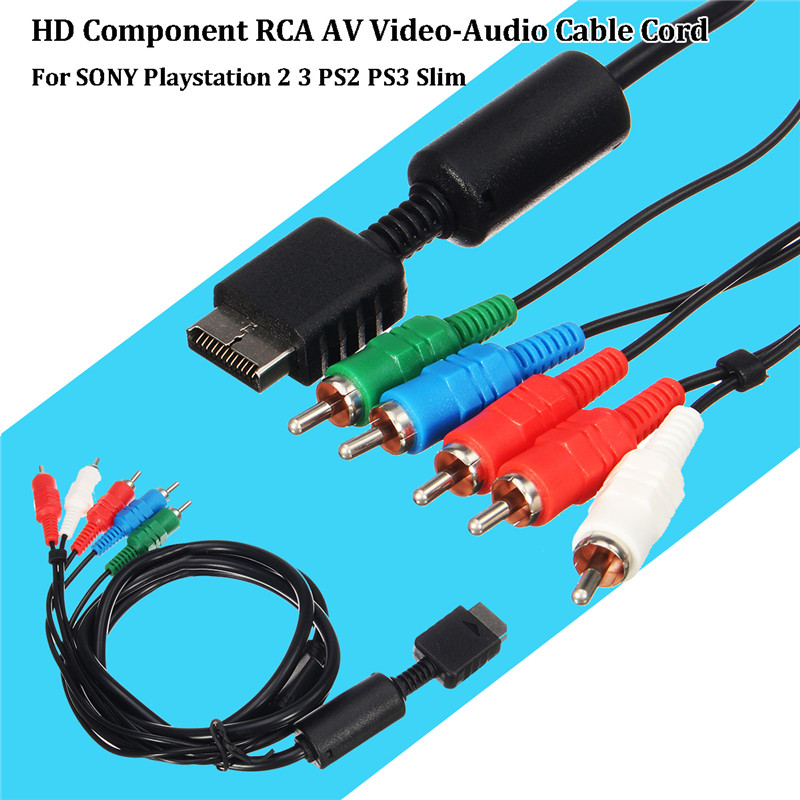 RCA AV Video-Audio HD Component Cable Cord For SONY For PS2 for PS3 Slim Game Accessories Gaming Console