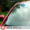 Per Lada Vesta 2015-parabrezza deflettori 1 set-2 pz protezione aerodinamica funzione di pioggia di scarico copertura car styling pad