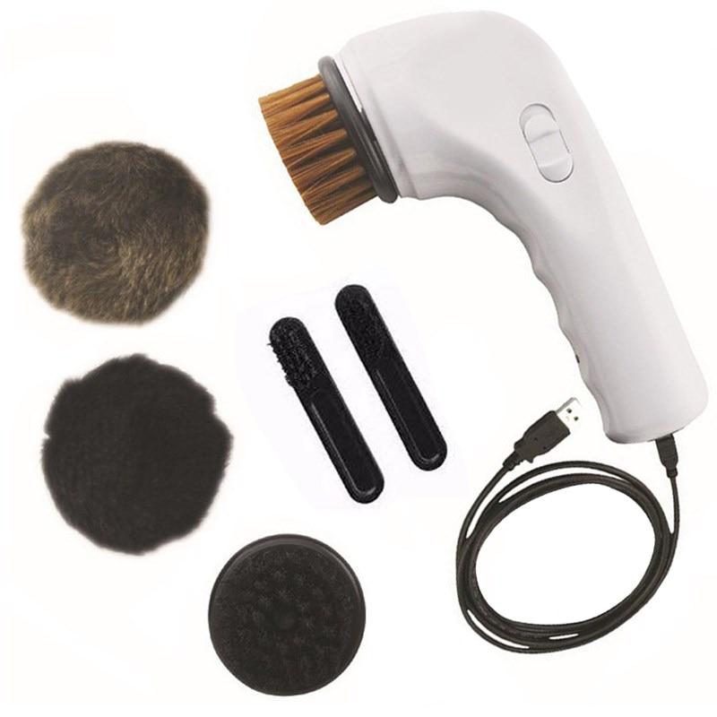 USB töltő elektromos cipő kefe tisztítása polírozó kefe cipőápolási készlet autó töltő fogantyú kefe gép bőr cipő