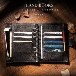 2019 Yiwi Zwart Roze Beige Wit A6 A7 Persoonlijke Pocket Lederen Planner Koe Lederen Klassieke Spiraal Notebook