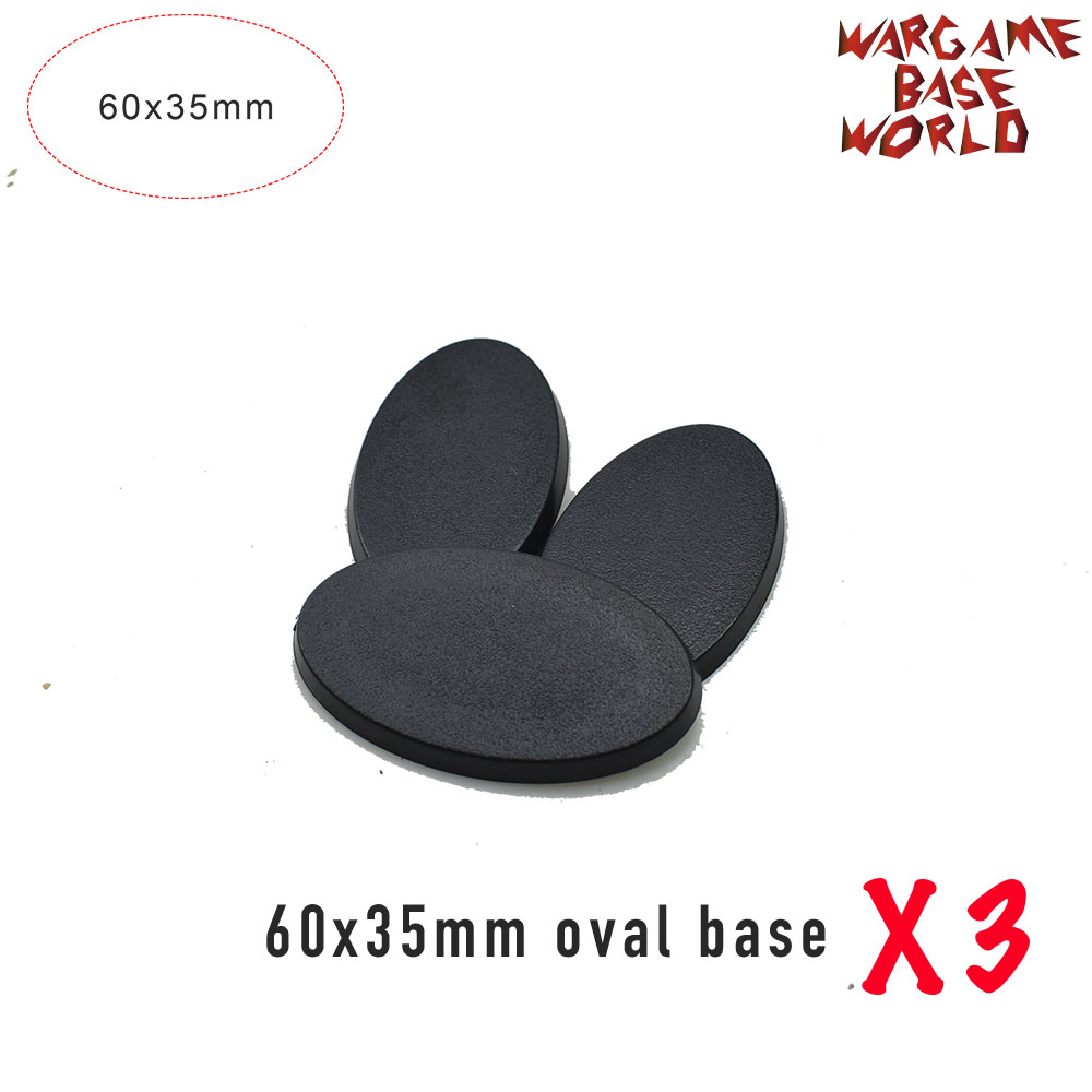 Wargame Base World - Oval bases - 60x35mm - 60mmx35mm