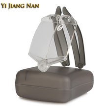 Yi Jiang Nan Brand Foldable Reading Glasses Eyewear Optical Eye Glasses Compact Women One Piece with Case for Men(China)