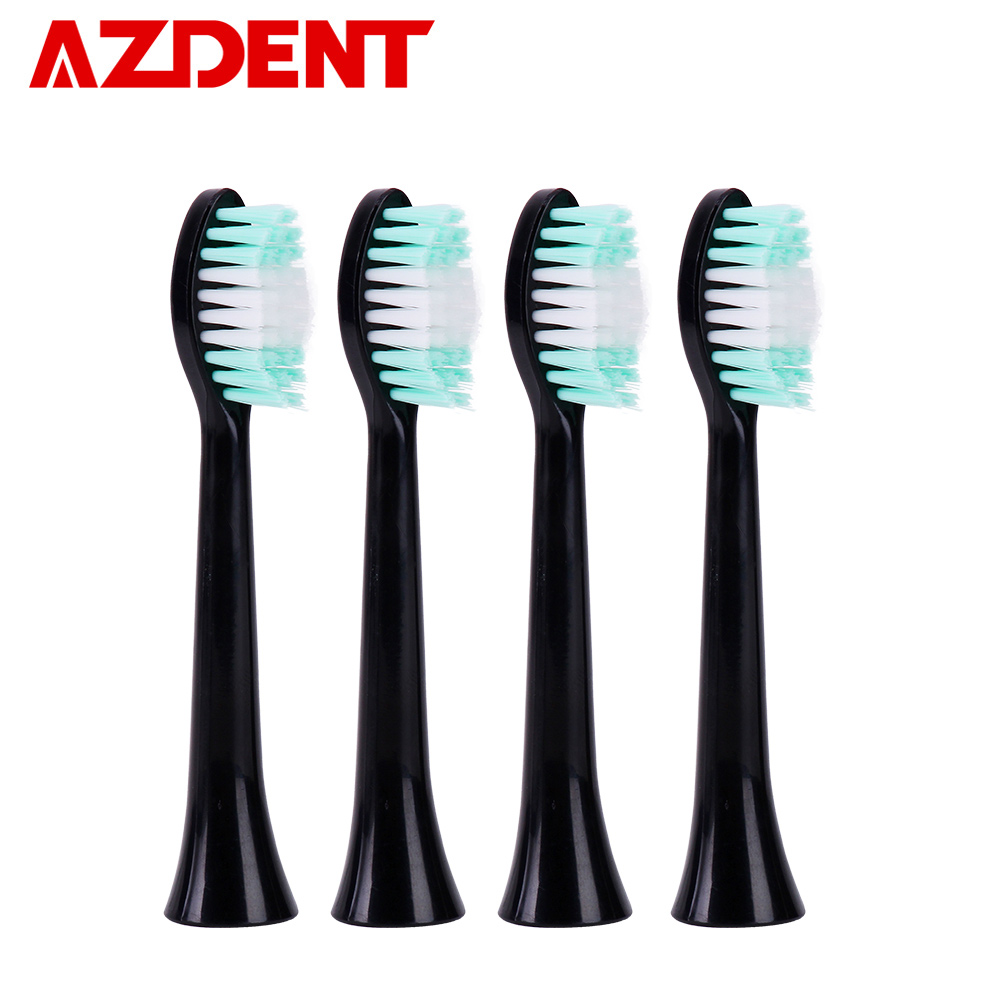 AZDENT 4 Pcs Electric Toothbrush Heads suit for 5 Functions Ultrasonic Sonic Electric Tooth Brush USB Charge Rechargeable цены