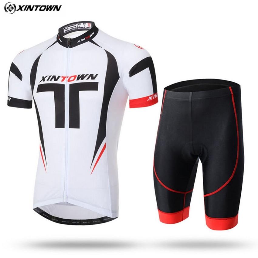 Homens XINTOWN Bicicleta Conjuntos Da Equipe de Ciclismo Jersey Com BIb Shorts de Ciclismo Roupas de Bicicleta Roupa Ciclismo Ma