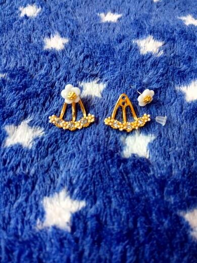 Цветок кристаллы Серьги-гвоздики для Для женщин Роза цвет золотистый Двусторонняя Модные украшения Серьги женского уха Brincos в ожидании