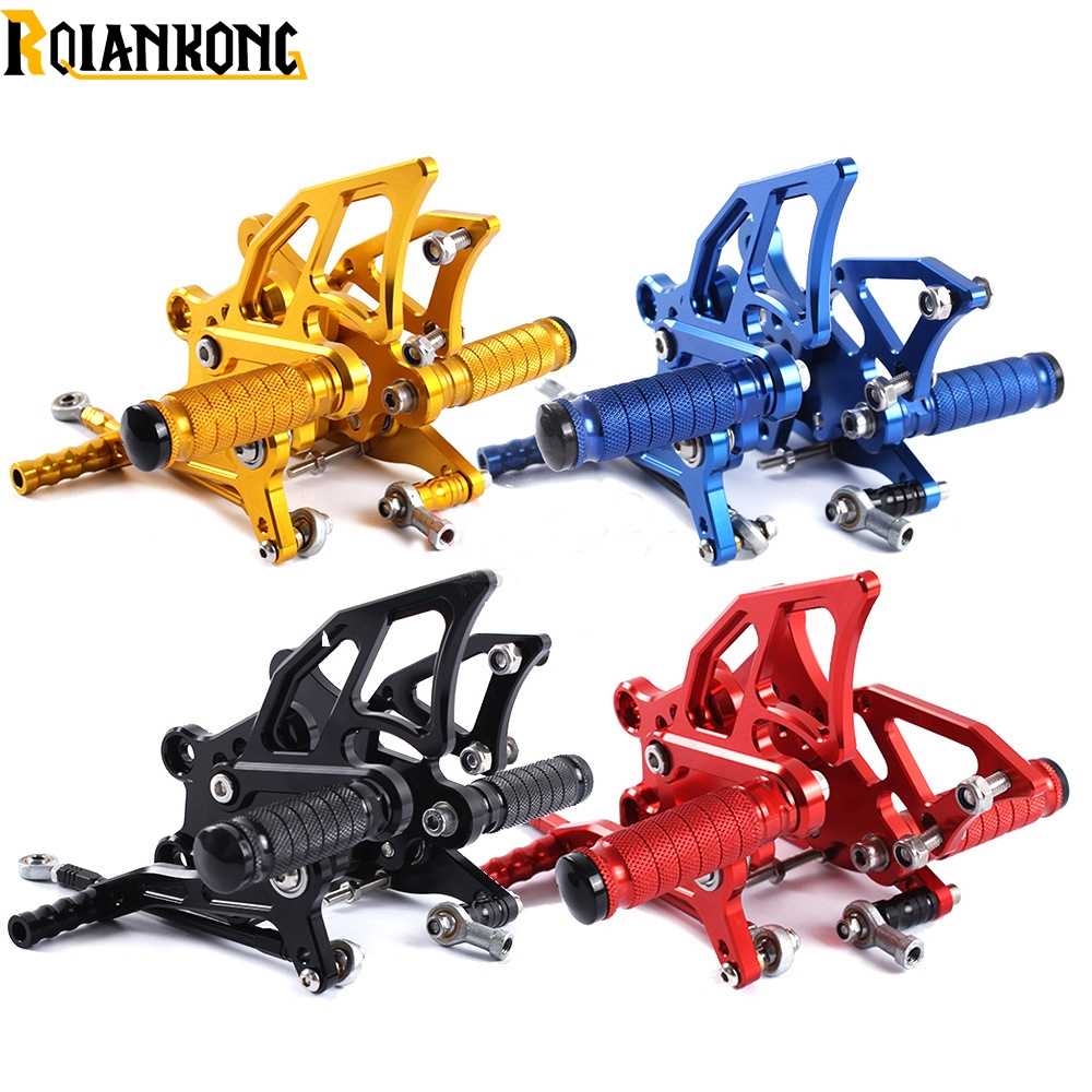 Motorcycle CNC Aluminum Rear Foot Pegs Rear motorbike Moto Accessories for Yamaha yzf-r1 yzf r1 2009 2010 2011 2012 2013 2014