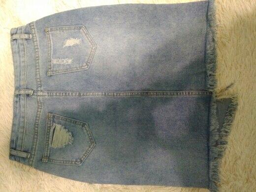 Plus Size Fashion Midi Denim Skirt Women Summer Light Blue Hole Ripped Jeans Skirt Female Button Tassel School Skirt photo review