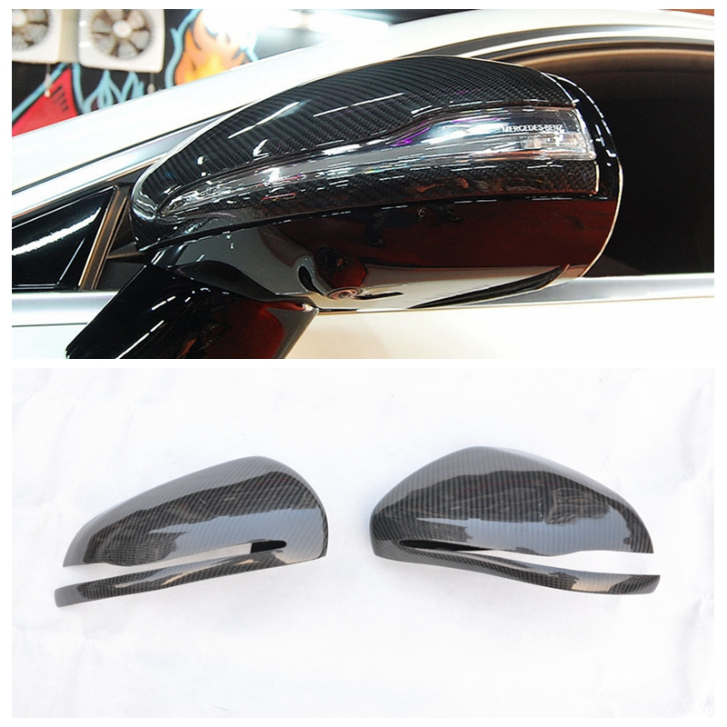 FREE SHIPPING Carbon Fiber Side Door Mirror Cover For Mercedes W205 W222 W213 Car Side Mirror Caps car styling car accessories car styling carbon fiber side review mirror cover caps for bmw 550i 5series e60 2005 2008