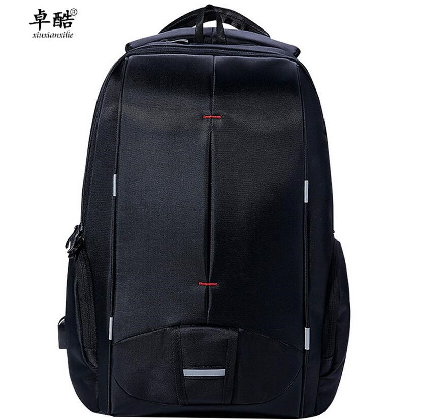zhuoku Waterproof male college student backpack USB charging bag laptop bag 14 to 17-inch backpack travel charging school bag fashion solid laptop backpack women usb charging polyester waterproof shoulder bag ladies school bag student casual travel bags