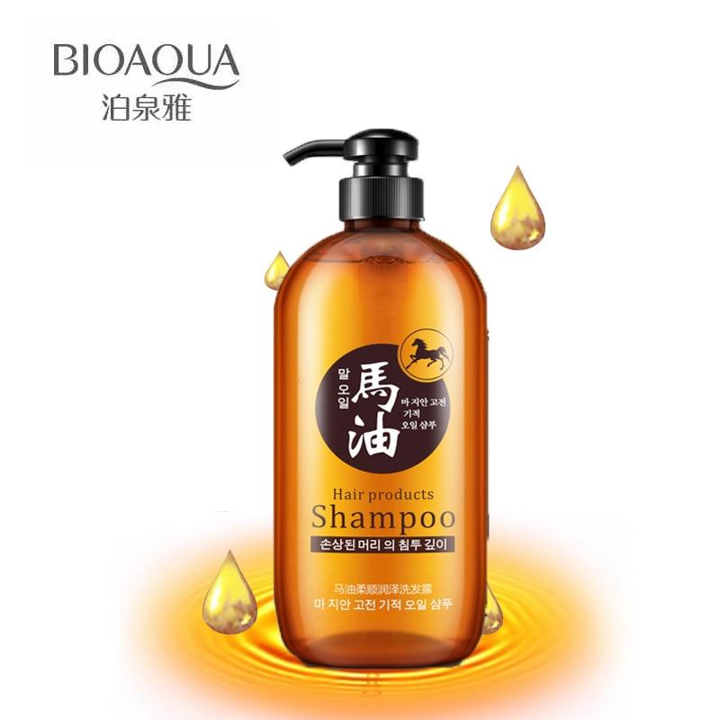 BIOAQUA Pferd Öl Haar Shampoo Ölsteuer Haar Feuchtigkeitsspendende Glanz Verbesserung Shampoos Korea Stil Kein silikon Öl Haarpflege
