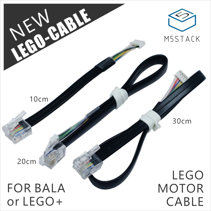 M5Stack Official Adapter Cable For LEGO Motor And M5Bala ESP32 Mini Balance Car Robot 6Pin 10cm/20cm/30cm Optional