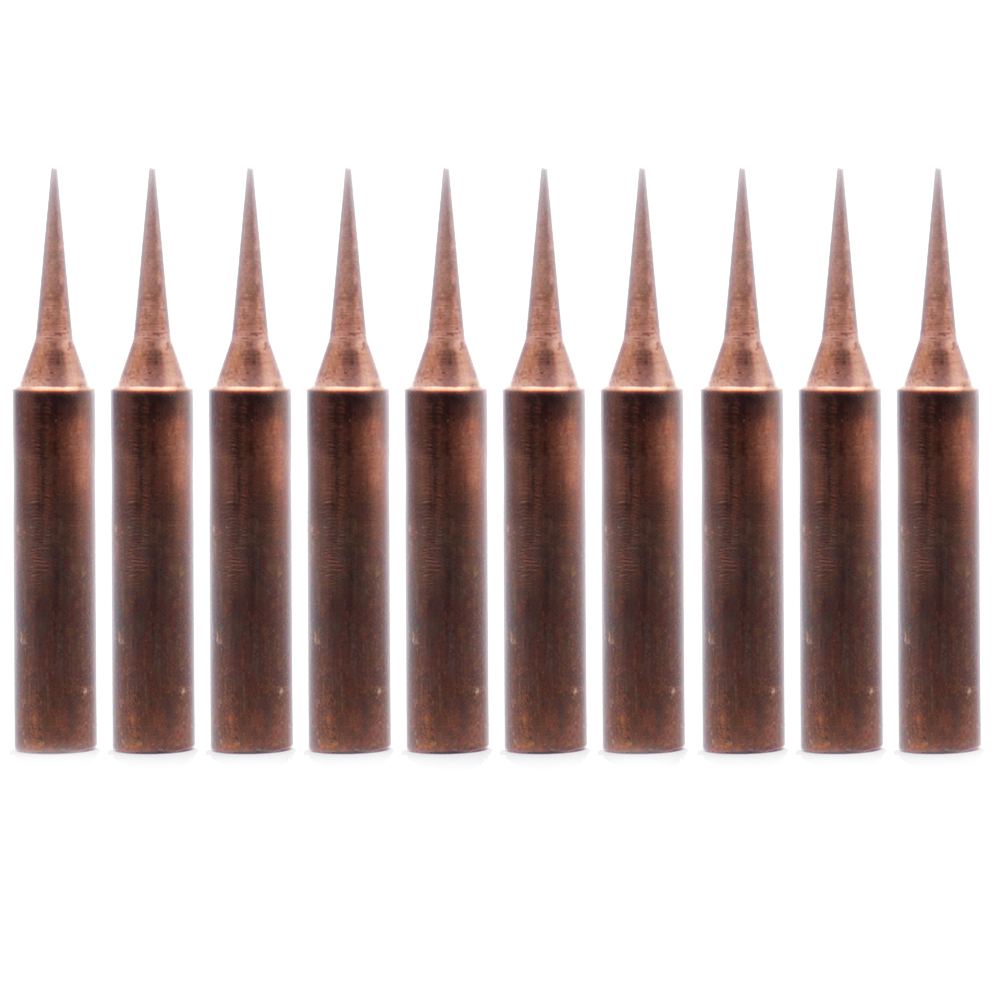 10Pcs/lot pure copper Iron tip 900M T I soldering tip for soldering rework station soldering iron station-in Welding Tips from Tools