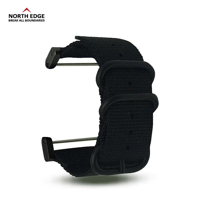 North Edge Watch-band 24mm Bredde Militær farve udendørs urrem erstattet Nylon med Connector linker til RangeRidgeAltay