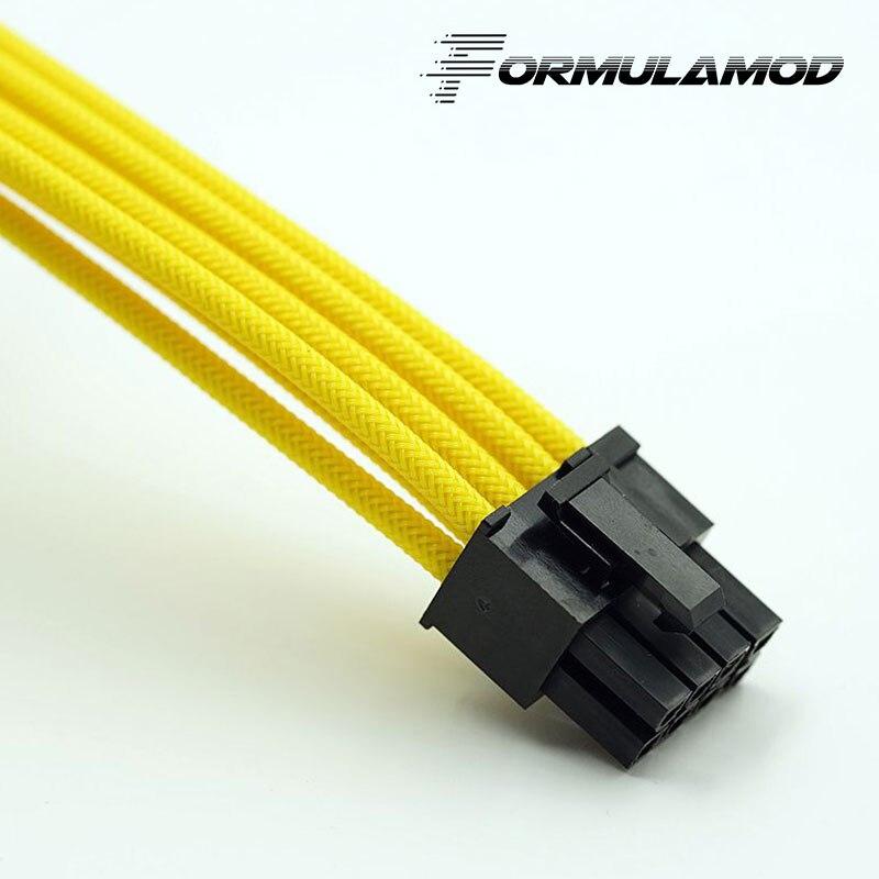 FormulaMod Fm-cpu 8P-A, ЦП 8Pin кабели расширения питания, материнская плата 18AWG 8Pin многоцветные соответствующие кабели расширения - Цвет лезвия: Yellow