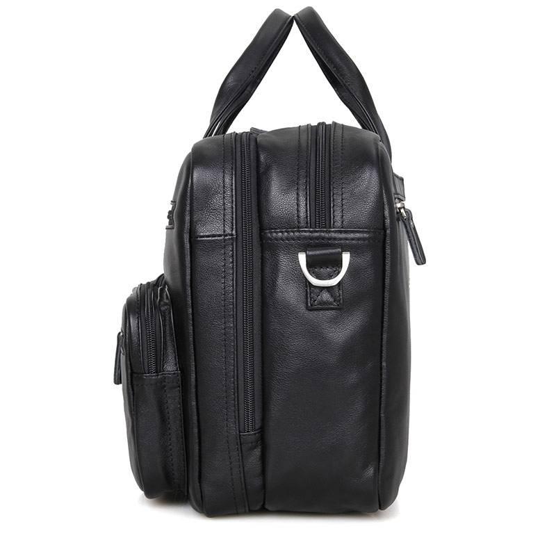Men 39 s Briefcase Black Genuine Vintage Leather 15 Laptop Bag USA Office Briefcase Business Travel Handbag Crossbody Shoulder Bags