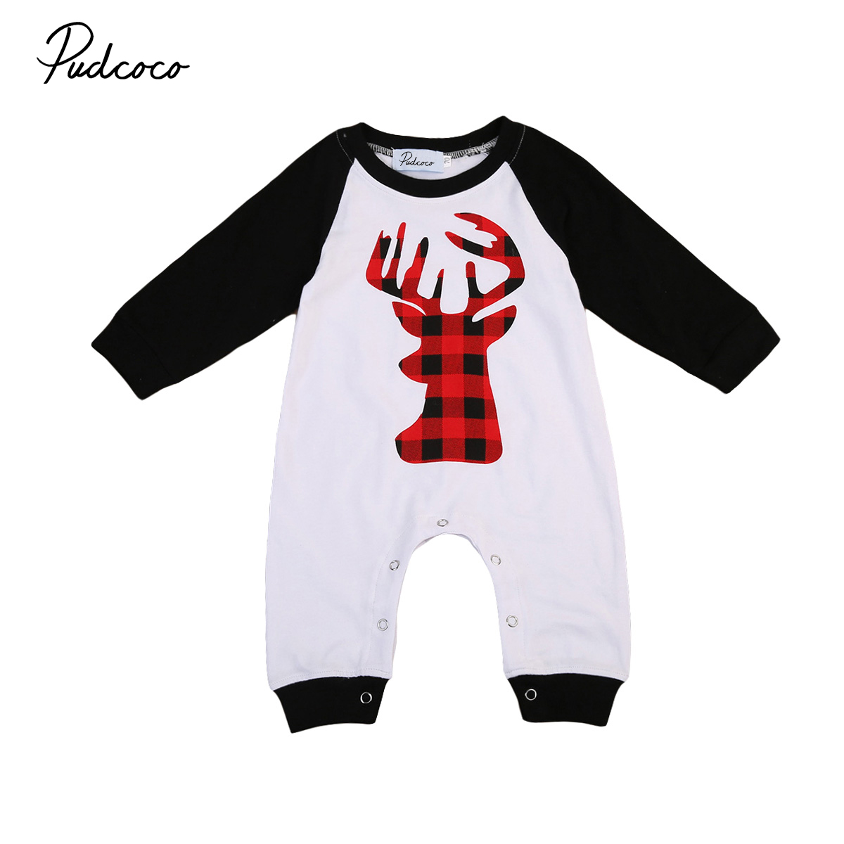 Pudcoco Cotton Newborn Baby Boys Girls Long Sleeve Deer Romper Jumpsuit Playsuit One-Pie ...