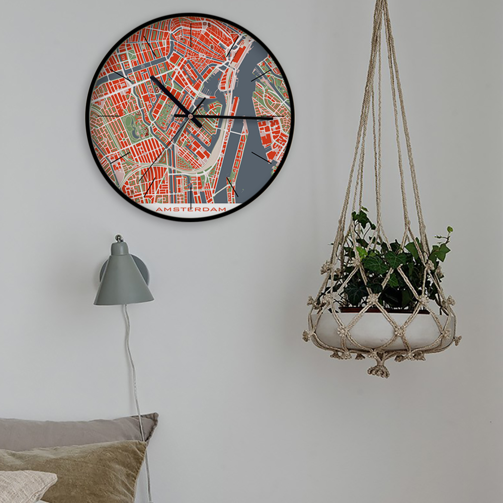 Silent Large 12 inch Modern Personalized Customization Creative Quartz Metal High Quality Wall Clock Multi Pattern for Home