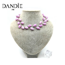 цена на Dandie trend handmade oval and rhombus bead chic necklace, new design jewelry for women