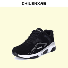 CHILENXAS 2017 New Unisex Casual Shoes Breathable Casual Fashion Flats Height Increasing men Spring Autumn Waterproof Lace-up
