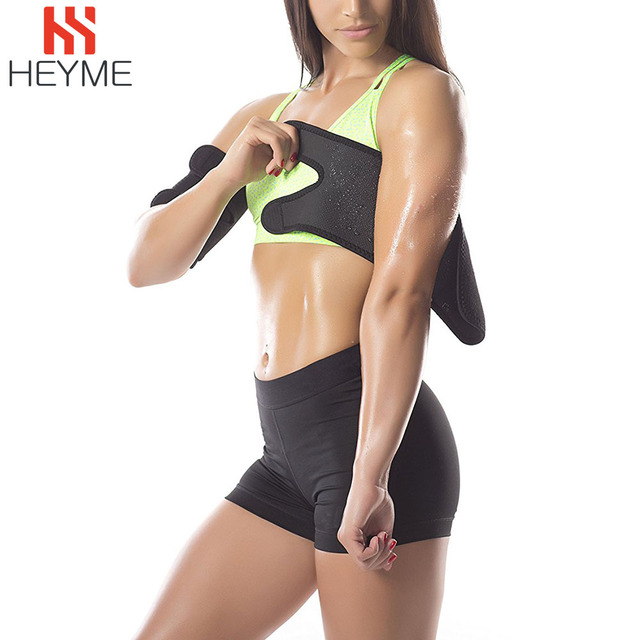 HEYME 1 Pair Slimming Arm Shaper Sauna Sweat Fat Burner Massager Weight Loss Belt Slimming Wraps Fitness Sleeves Calories off