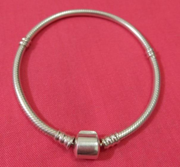 100% 925 Sterling Argent Bracelets Européenne D'origine Serpent Chaîne Bracelet pour le CADEAU 16-21 CM Diy Perles Charmes necklate Bracelet