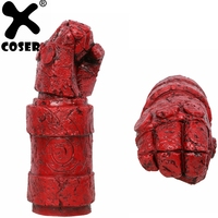 XCOSER Hellboy Arm With Glove Costume Accessories Movie Cosplay Latex Arm Prop Halloween Cosplay Costume Prop For Men