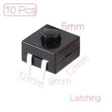 UXCELL _delete 10 Pcs 12X12x9mm Dip Pcb Latching Tactile Tact Push Button Switch _delete стоимость