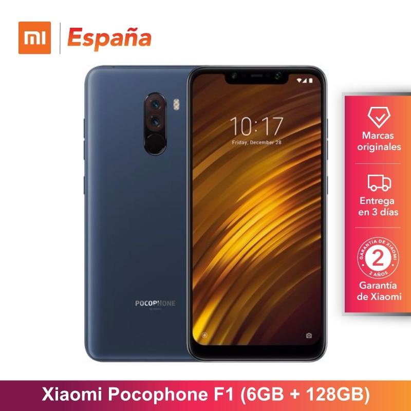 [Version mondiale pour l'espagne] Xiaomi Pocophone F1 (memia interna de 128 GB, RAM de 6 GB, Camara 12MP + 5MP, Snapdragon 845) Movil