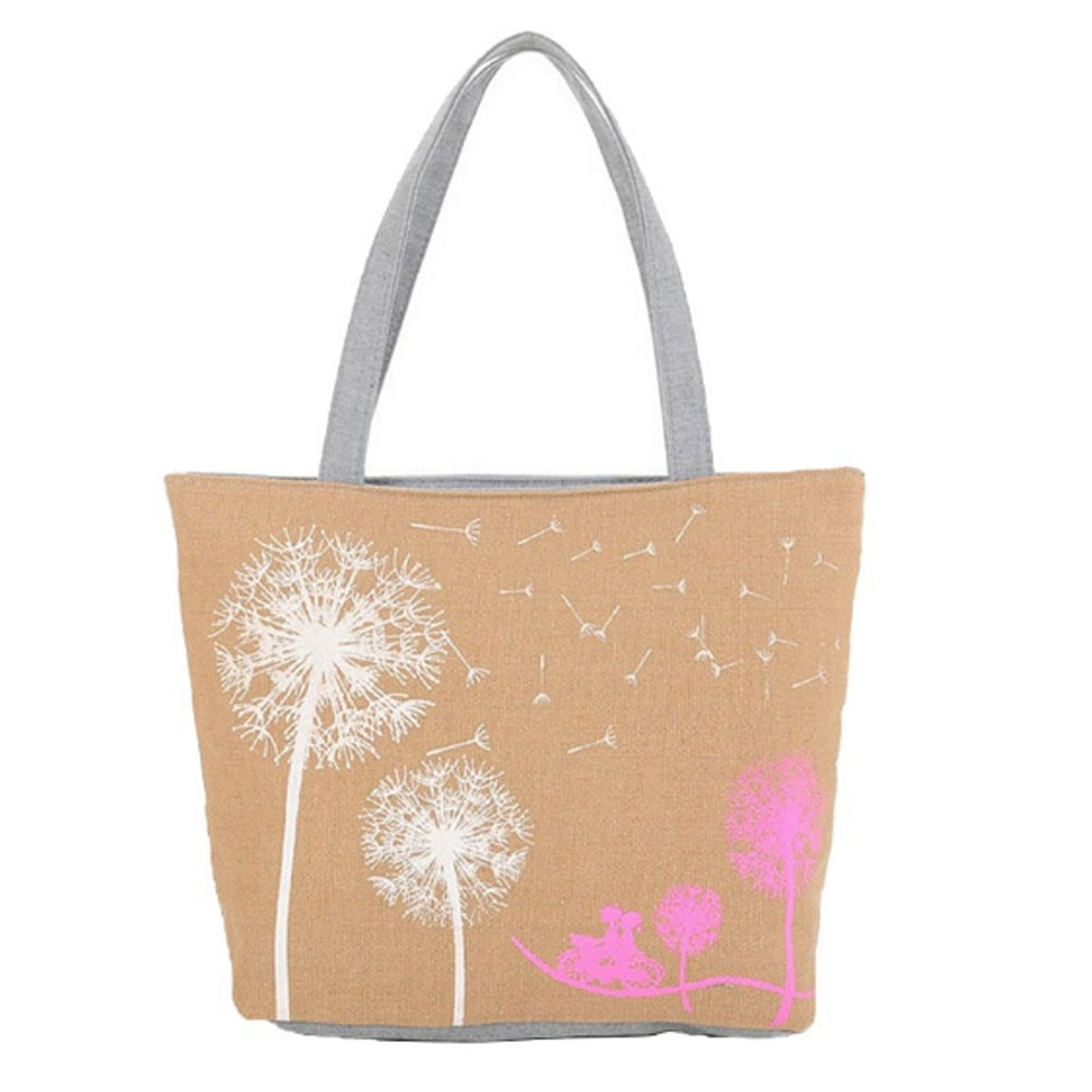 Canvas Women Casual Tote Lady Large Bag Fashion Dandelion Handbags Shopping Bag New Women's Shoulder Bags 2018 fashion lady handbags women canvas messenger bags shopping bags ladies casual green striped smiling face hand bag party