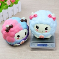 Cute Sheep Slow Rising For Squishy Phone Straps Fashion Pendant Dust Plugs Large Size Squeeze Kids