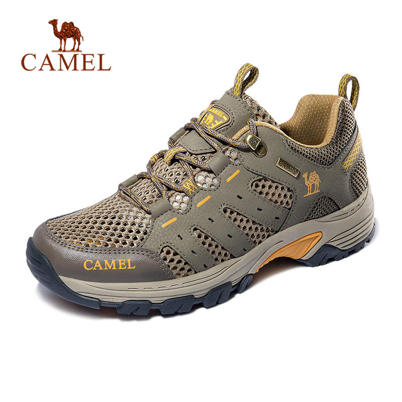 CAMEL Men Outdoor Hiking Shoes Breathable Non slip Durable Outdoor Hiking Trekking Trail Mesh Shoes