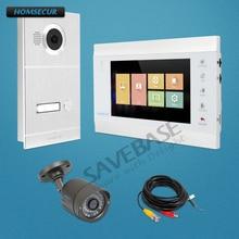 """HOMSECUR 7 """"Video Deur Entry Telefoontje Systeem met Intra monitor Audio Intercom"""