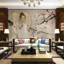 New China style Jiangnan Water Town Classical beautiful plum wall decorative pai
