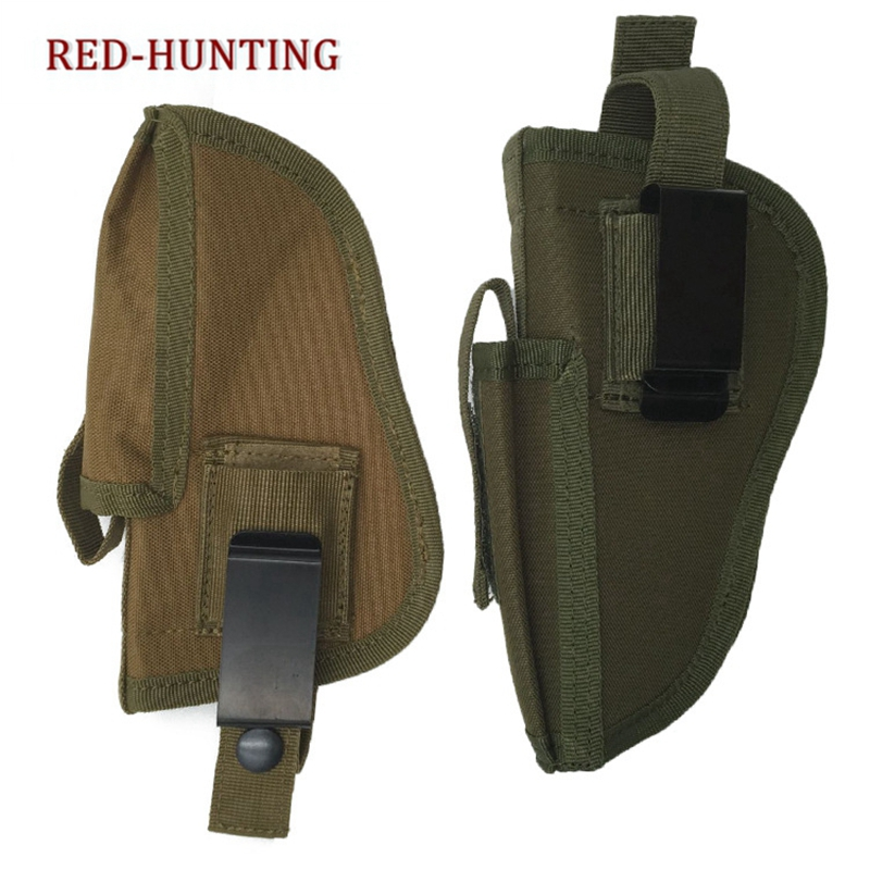 <font><b>Gun</b></font> Holster Pistol Tactical <font><b>Glock</b></font> 17 19 21 23 27 Sig P320 1911 Ruger <font><b>9mm</b></font> Taurus Compact M&P Military Carry Universal Left Right image