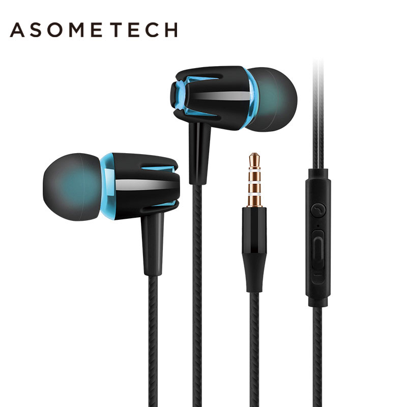 ASOMETECH Sport Earphone Headset For iPhone Xiaomi Xiomi M6 3.5mm Wired Super Bass Stereo Music Earphones With Microphone Calls gutsyman hot selling earphone bass for mobilephone headset with microphone mic sport music earphone vs xiaomi m1 m2 m3 m4 m5 m6
