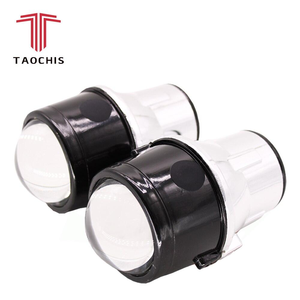 TAOCHIS M6 2.5 pouces bi-xénon HID Auto voiture-style projecteur anti-brouillard lentille Hi/Lo universel brouillard lampe voiture rénovation H11 ampoules
