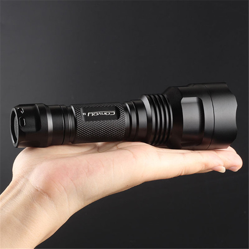 Convoy C8  Aluminum Alloy  U2-1B AK47 7135*6 8 Modes White Light LED Flashlight Torch By 18650 Battery For Camping Hiking