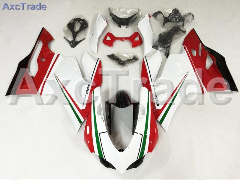 Мотоцикл Обтекатели для Ducati 899 1199 2012 2013 2014 12 13 14 АБС впрыска Обтекателя кузова комплект красный белый A502