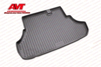 Trunk mats for Mitsubishi Lancer X 2007 2010 sedan 1 pcs rubber rugs non slip rubber interior car styling accessories