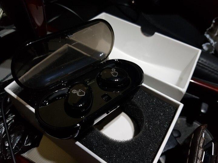 ALLOYSEED Black TWS Wireless Bluetooth Headset Waterproof IPX5 Earphone With Mic Sports Earphone In Ear For Phones