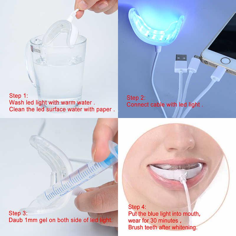뜨거운 치아 화이트닝 젤 키트 3x3 ml 치과 표백 시스템 구강 젤 키트 밝은 흰색 미소 램프 치아 화이트닝 화이트닝