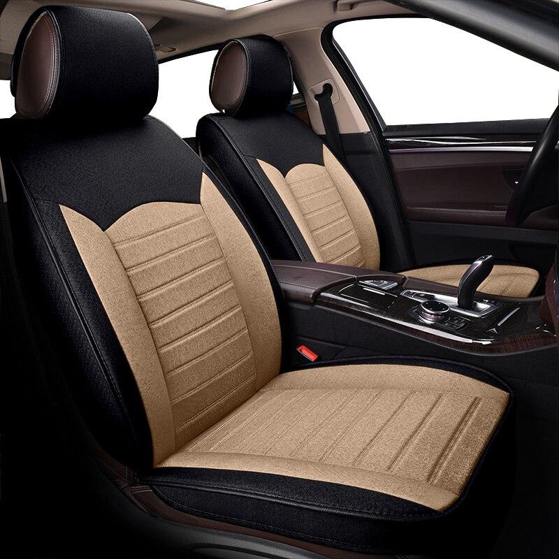 KOKOLOLEE Передний + задний чехлы для сидений автомобиля Volvo V40 S60 V60 S80 S90 XC90 XC60 авто аксессуары для авто Стайлинг защитное покрытие автомобильного