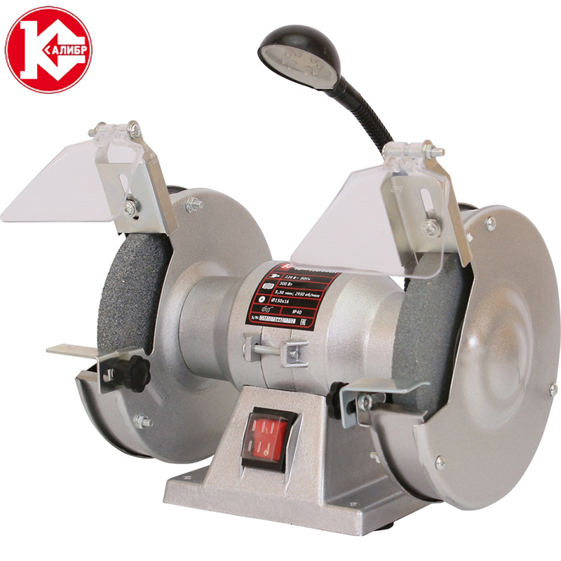 Kalibr TE-150/300L bench multi-function electric grinder bench polishing machine small grinding wheel multifunction mini table bench vise bench drill milling machine stent bg6330 1pcs
