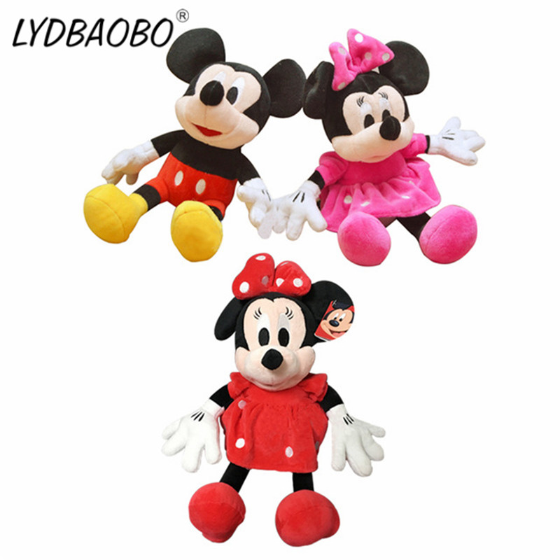 1PC 28CM Cartoon Mickey Mouse Minnie Mouse Super Classic Plush Doll Stuffed Soft Animals Plush Kid Toy Baby Gift Free Shipping